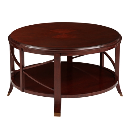 Amazing Trendy Red Round Coffee Tables Within Round Mahogany Coffee Table (View 16 of 50)