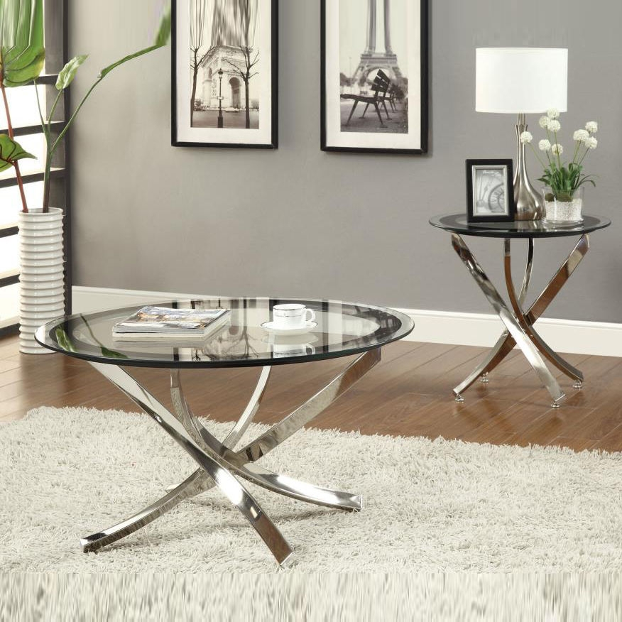 Amazing Trendy Round Chrome Coffee Tables In Coffee Table Astonishing Chrome And Glass Coffee Table In Your (Image 2 of 50)