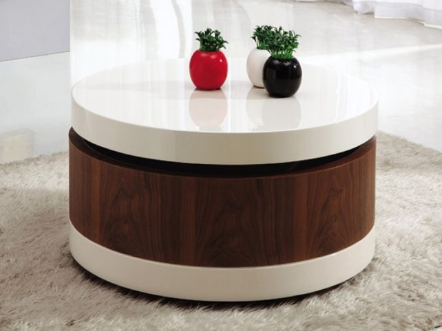 Amazing Trendy Round Coffee Table Storages With Regard To Coffee Table Redoubtable Round Coffee Table With Storage Round (View 5 of 50)
