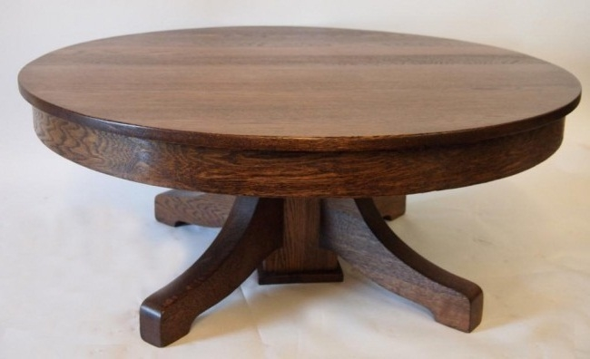 Amazing Trendy Round Oak Coffee Tables In Brilliant Vintage Round Coffee Table Vintage Imperial Round Coffee (Image 5 of 40)