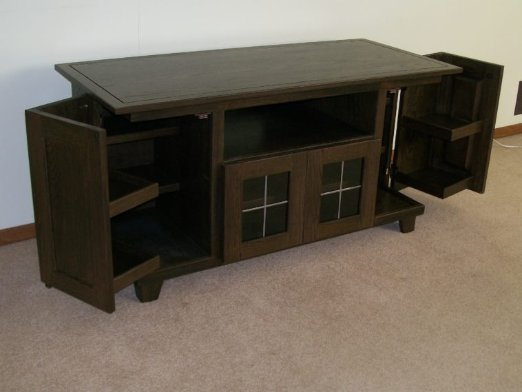 Amazing Trendy TV Cabinets With Storage In Furniture Big Screen Tv Cabinet Using Storage Folding Door And (Image 1 of 50)