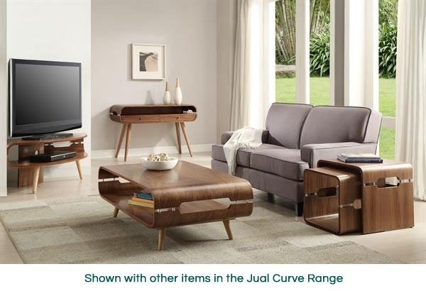 Amazing Trendy Walnut Corner TV Stands Throughout Jual Curve Jf701 Walnut Corner Tv Stand (Image 2 of 50)