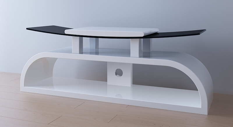 Amazing Trendy White Cantilever TV Stands In White Gloss Tv Stand Television Stand Wood Tv Stand (Image 4 of 50)