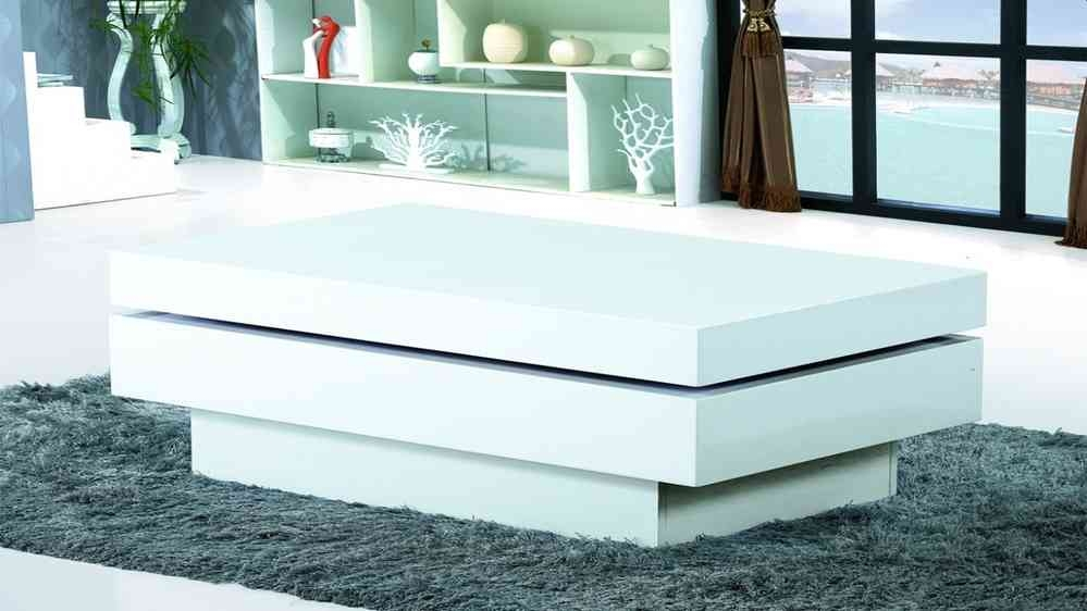 Amazing Trendy White Gloss Coffee Tables Inside Modern White Gloss Coffee Table Homegenies (View 37 of 50)