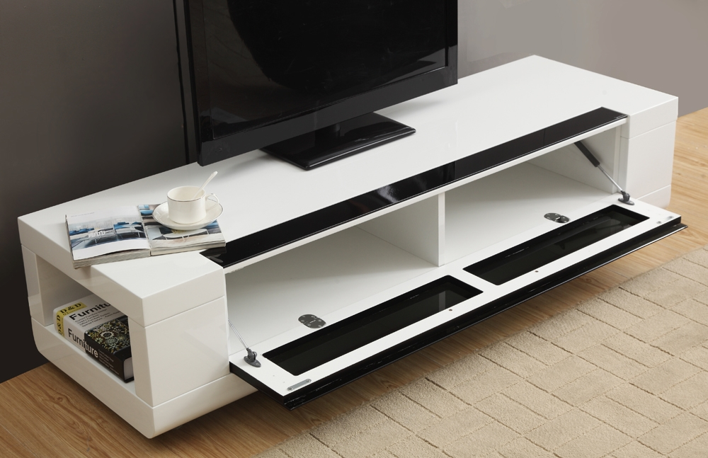 Amazing Trendy White Modern TV Stands With Regard To B Modern Editor Remix Mini Tv Stand White High Gloss B Modern (Image 3 of 50)