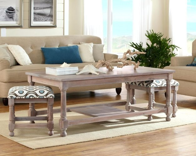 Amazing Unique Coffee Tables With Nesting Stools Within Coffee Table Palermo Coffee Table With Nesting Ottomans (Image 6 of 50)