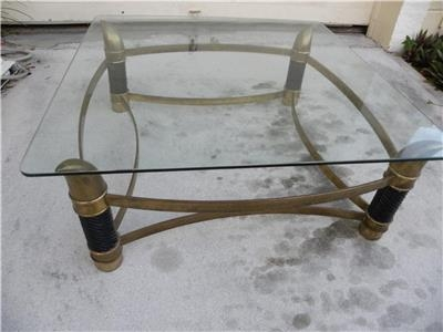 Amazing Unique Elephant Glass Top Coffee Tables For Mid Century Italian Tomasso Barbi Attr Faux Tusk Brass Coffee (Image 5 of 50)