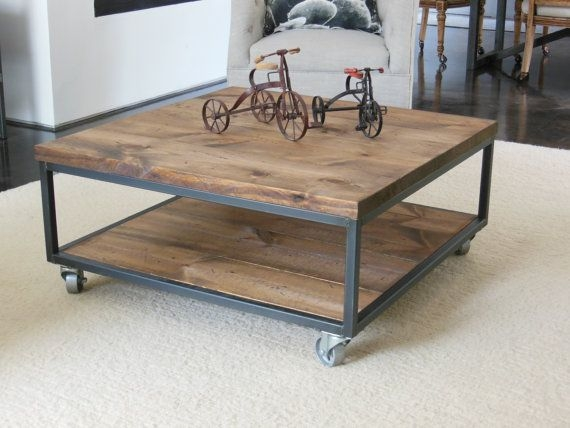Amazing Unique Industrial Style Coffee Tables Throughout Best 20 Square Coffee Tables Ideas On Pinterest Build A Coffee (Image 3 of 50)