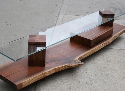 Amazing Unique Long Coffee Tables With Long Wood Slab Coffee Table Coffee Tables Zone Wood Slab (Image 4 of 50)