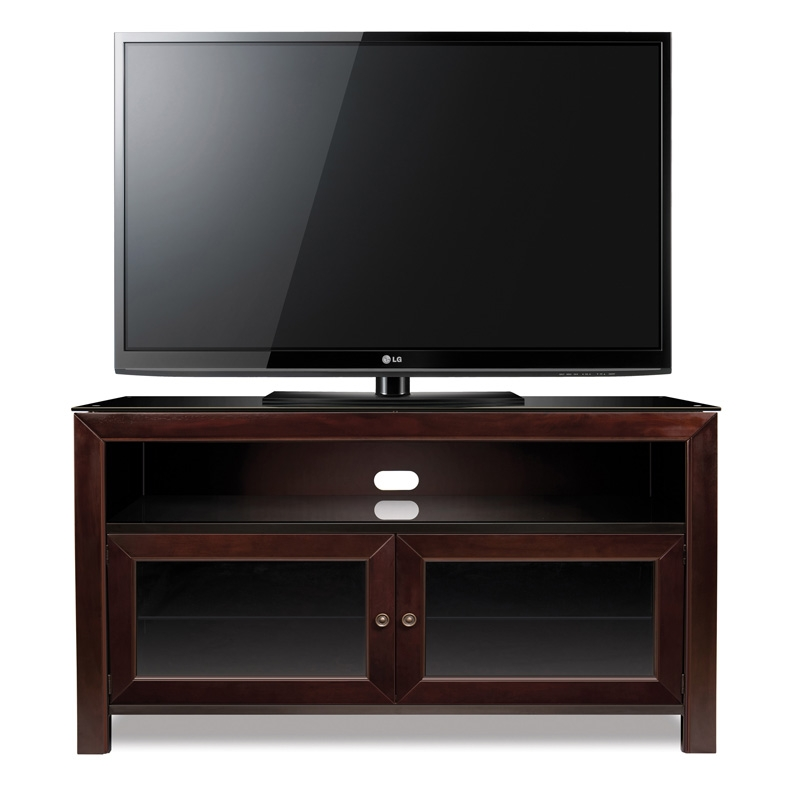 Amazing Unique Mahogany TV Stands For Bello 50 3 Shelf Tv Stand Deep Mahogany Pcrichard Wmfc (Image 6 of 50)