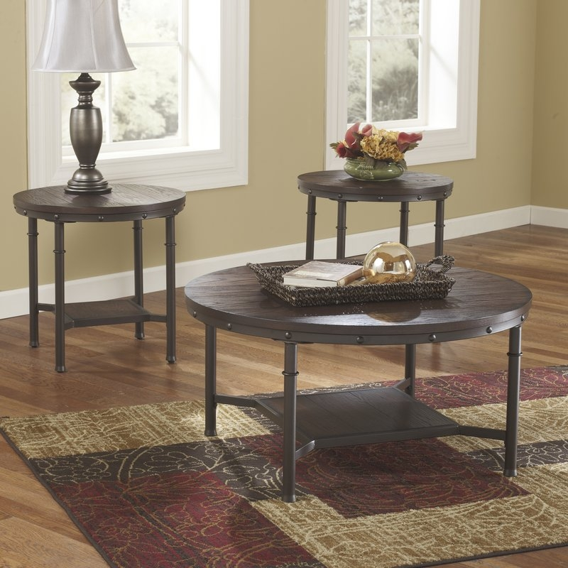 Amazing Unique Wayfair Coffee Table Sets Inside Loon Peak Blake 3 Piece Coffee Table Set Reviews Wayfair (Image 4 of 50)
