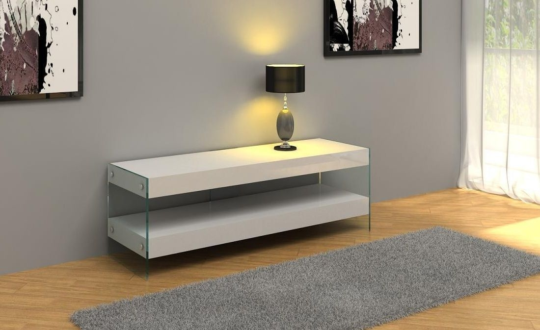 Amazing Unique White Contemporary TV Stands Intended For Reviews Contemporary White Floating Tv Stand Tallahassee Florida (Image 6 of 50)