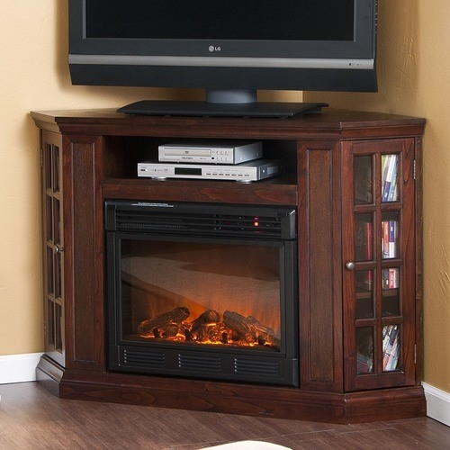 Amazing Variety Of 50 Inch Corner TV Cabinets Within Fireplace Tv Corner Stands Fireplace Design And Ideas (Image 4 of 50)