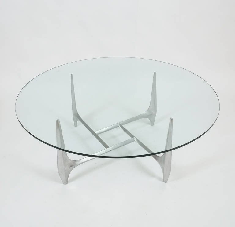 Amazing Variety Of Aluminium Coffee Tables With Regard To Large Sculptural Aluminium Coffee Table Knut Hesterberg For (Image 6 of 50)