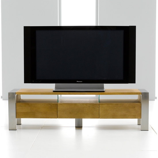 Amazing Variety Of Contemporary Oak TV Stands Pertaining To Louis Metal Solid Oak Tventertainment Stand  (Image 2 of 50)