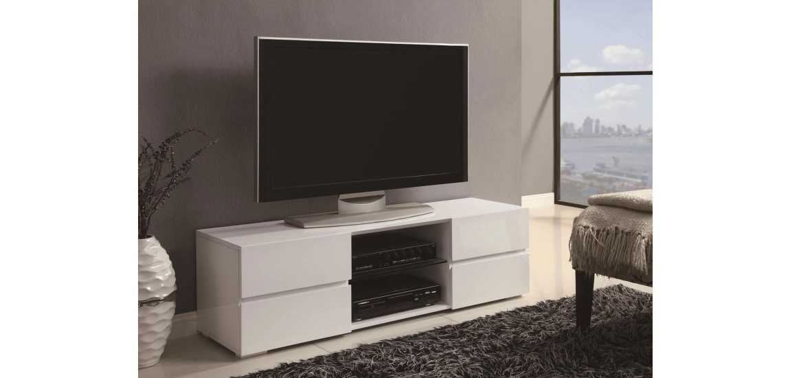 Amazing Variety Of Contemporary TV Stands With 700825 Contemporary Tv Stand In White High Gloss Finish (Image 5 of 50)