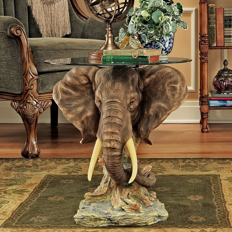 Amazing Variety Of Elephant Coffee Tables Inside Design Toscano Lord Earl Houghtons Trophy Elephant Coffee Table (Image 5 of 50)