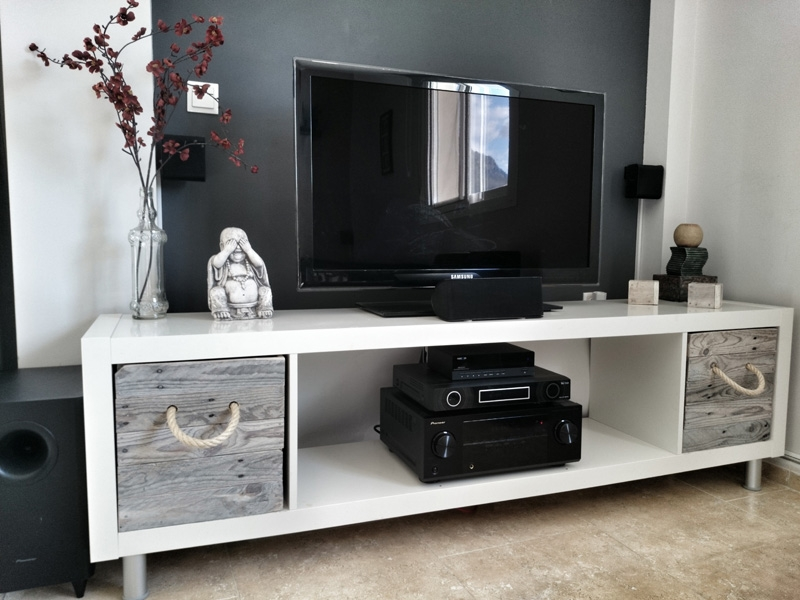 Amazing Variety Of Extra Long TV Stands With Regard To Tv Stands Awesome Expedit Tv Stand 2017 Design Expedit Tv Stand (View 34 of 50)