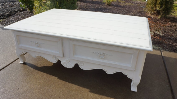 Amazing Variety Of French White Coffee Tables Throughout Ethan Allen Coffee Table (Image 6 of 50)