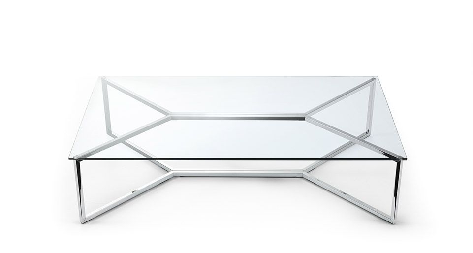 Amazing Variety Of Glass Steel Coffee Tables Intended For Contemporary Steel Coffee Table Design (Image 2 of 50)