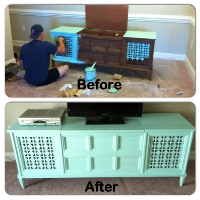 Amazing Variety Of Green TV Stands Throughout Best 25 Antique Tv Stands Ideas On Pinterest Mounted Tv Decor (Image 2 of 50)