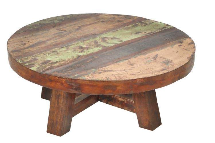 Amazing Variety Of Large Round Low Coffee Tables Pertaining To Nice Solid Wood Round Coffee Table (View 9 of 50)