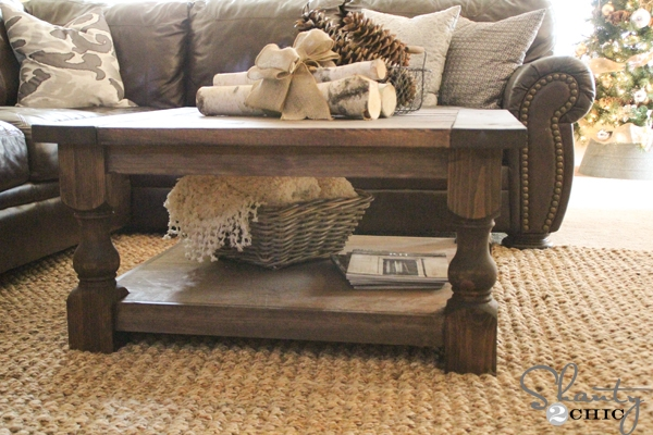 Amazing Variety Of Large Square Wood Coffee Tables Within Diy Square Coffee Table Shanty 2 Chic (View 32 of 50)