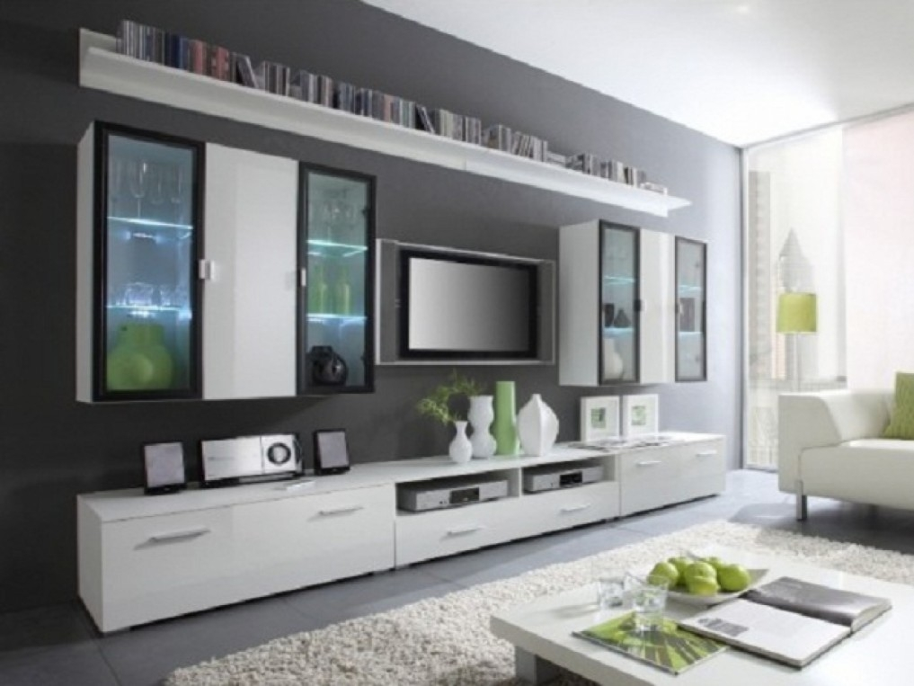 Amazing Variety Of Large White TV Stands Inside Minimalist Elegant Tv Stand White Wall Furniture Yustusa (Image 4 of 50)