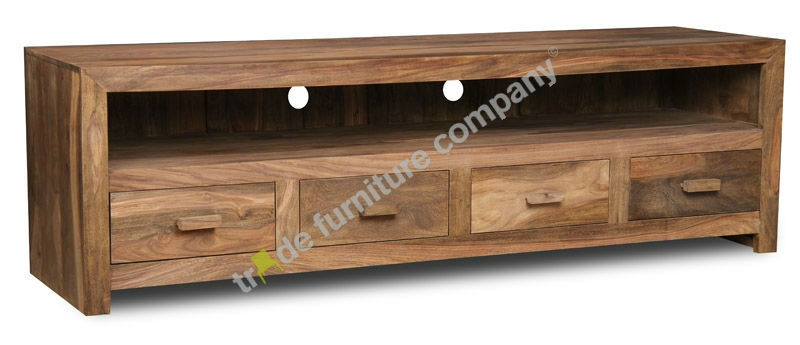 Amazing Variety Of Long Wood TV Stands Inside Indian Wood Furniture Online (Image 4 of 50)