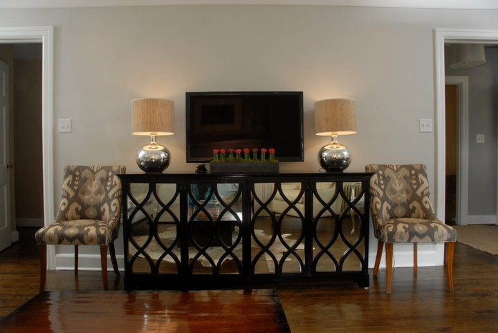 Amazing Variety Of Mirrored TV Cabinets Furniture Regarding Mirrored Cabinet Design Ideas (Image 7 of 50)
