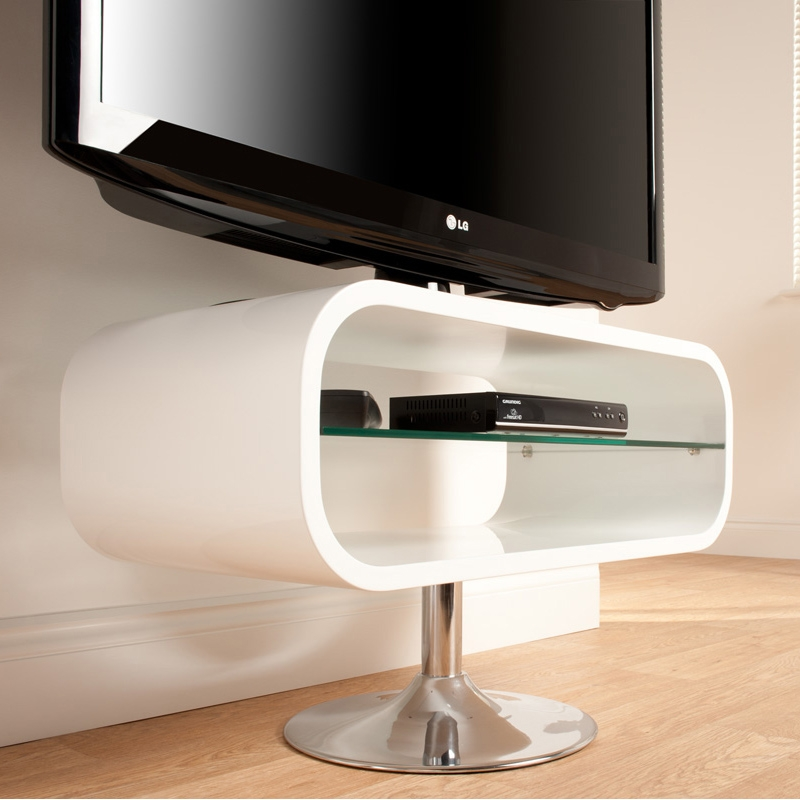 Amazing Variety Of Opod TV Stands White Within Techlink Op80w Opod 31 Tv Stand In White W Chrome Base (Image 5 of 50)