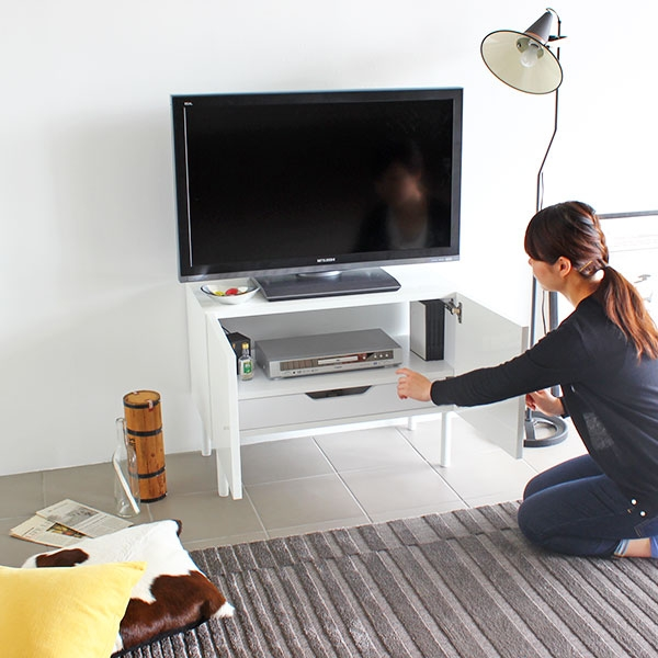 Amazing Variety Of Slim TV Stands With Regard To White Small Tv Stand Universalcouncil (Image 6 of 50)