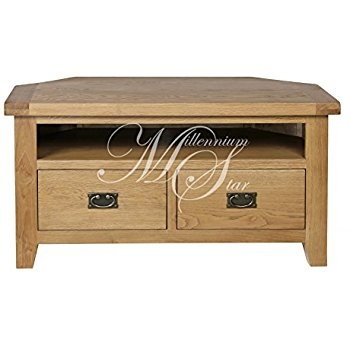 Amazing Variety Of Solid Oak TV Stands In Original Rustic Solid Oak Tv Corner Cabinet Amazoncouk Kitchen (View 48 of 50)