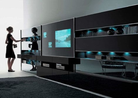 Amazing Variety Of Ultra Modern TV Stands Intended For Interior Contemporary Tv Wall Unit And Cabinet Design Ideas For (Image 2 of 50)