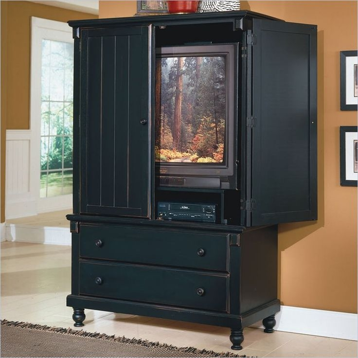 Amazing Well Known Black TV Cabinets With Drawers With Tv Stands Amazing Armoire Tv Stand 2017 Gallery Tv Armoire (Image 5 of 50)