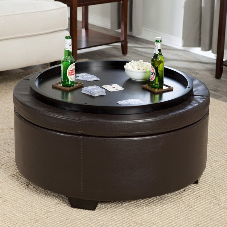 Amazing Well Known Brown Leather Ottoman Coffee Tables With Storages With 12 Best Coffee Table Storage Images On Pinterest Round Coffee (Image 3 of 40)