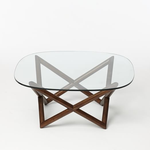 Amazing Well Known Coffee Tables With Clock Top Inside Spindle Coffee Table West Elm (Image 6 of 40)