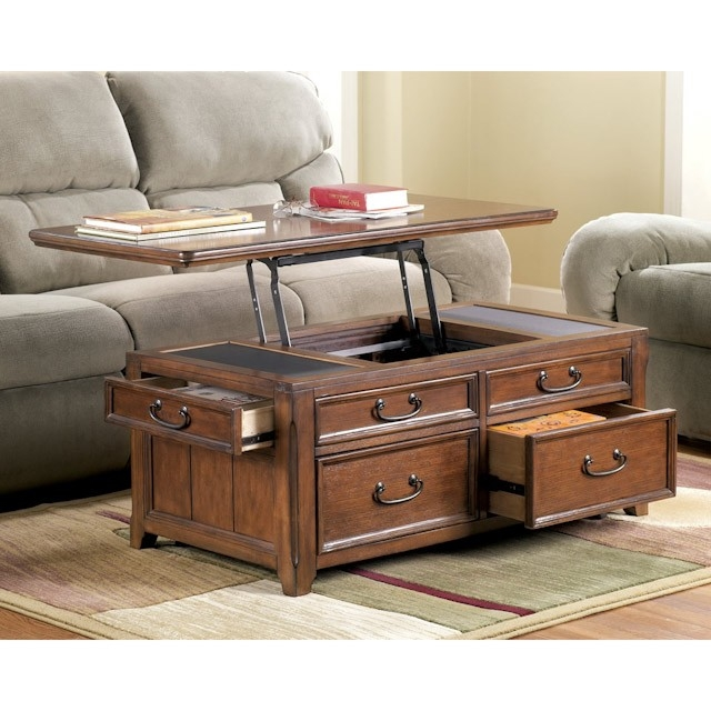 Amazing Wellknown Coffee Tables With Lifting Top In Woodboro Lift Top Coffee Table Bernie Phyls Furniture (View 28 of 50)