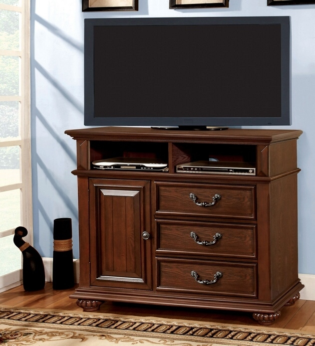 Amazing Well Known Dark Wood TV Stands Regarding Landaluce Collection (Image 4 of 50)