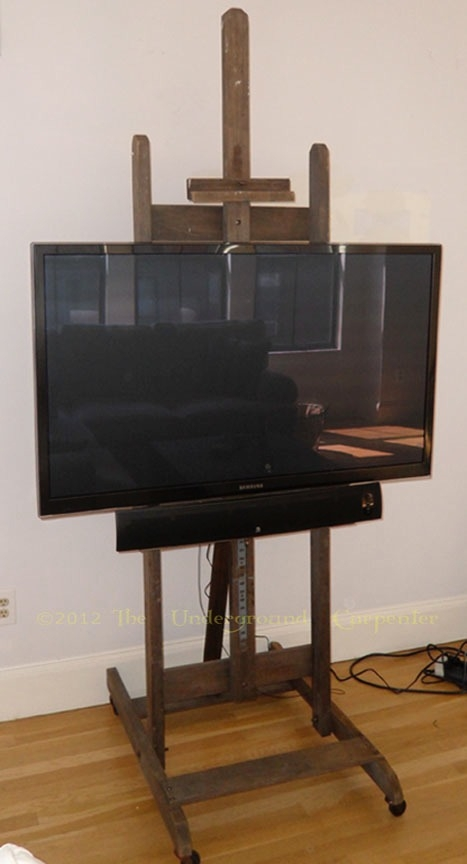 Amazing Wellknown Easel TV Stands For Flat Screens Inside Flat Screen Tv Stand Formerly Known As An Artists Easel The (View 2 of 50)