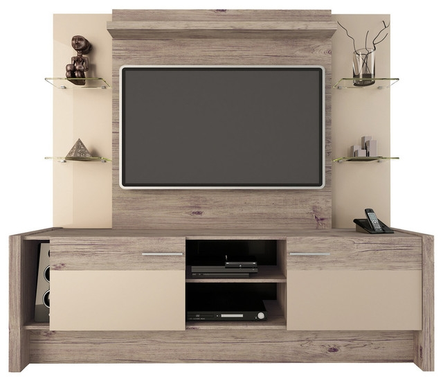 Amazing Well Known Freestanding TV Stands Within Manhattan Comfort 2 Shelf Morning Side Entertainment Center (View 22 of 50)