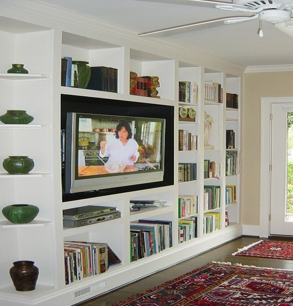 Amazing Wellknown Full Wall TV Cabinets Throughout Tv Stands Astounding Entertainment Center With Bookcases  (Image 4 of 50)