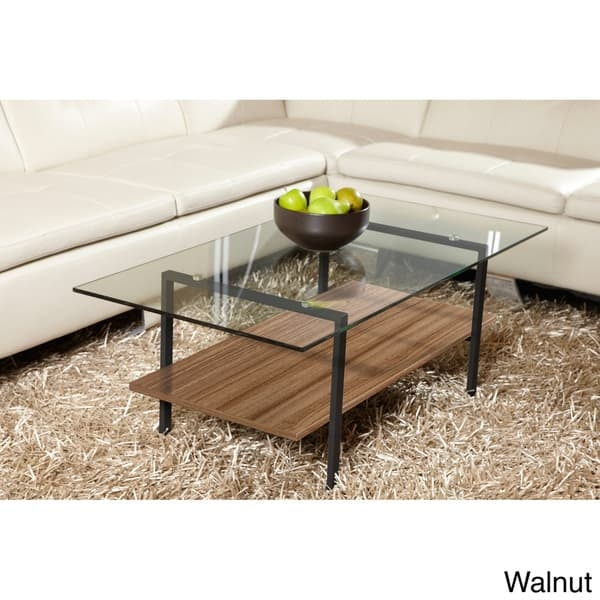 Amazing Wellknown Glass Coffee Tables With Shelf Inside Jesper Office Modern Glass Coffee Table With Shelf Free Shipping (View 14 of 50)