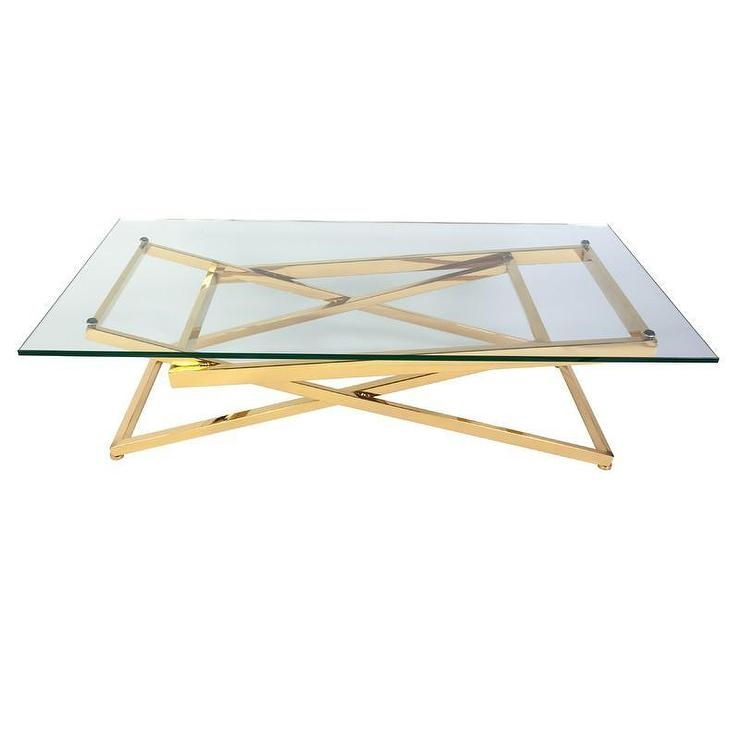 Amazing Wellknown Glass Gold Coffee Tables Within Living Room Top Glass Gold Coffee Table Products Bookmarks Design (View 15 of 50)
