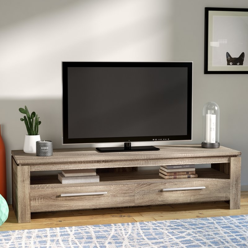 Amazing Well Known Honey Oak TV Stands Inside Tv Stands Sale Youll Love Wayfair (Image 8 of 50)