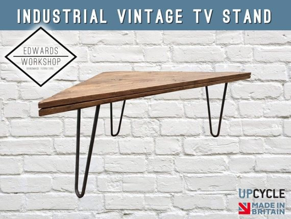 Amazing Wellknown Industrial Corner TV Stands Intended For Best 20 Industrial Tv Stand Ideas On Pinterest Industrial Media (Image 6 of 50)
