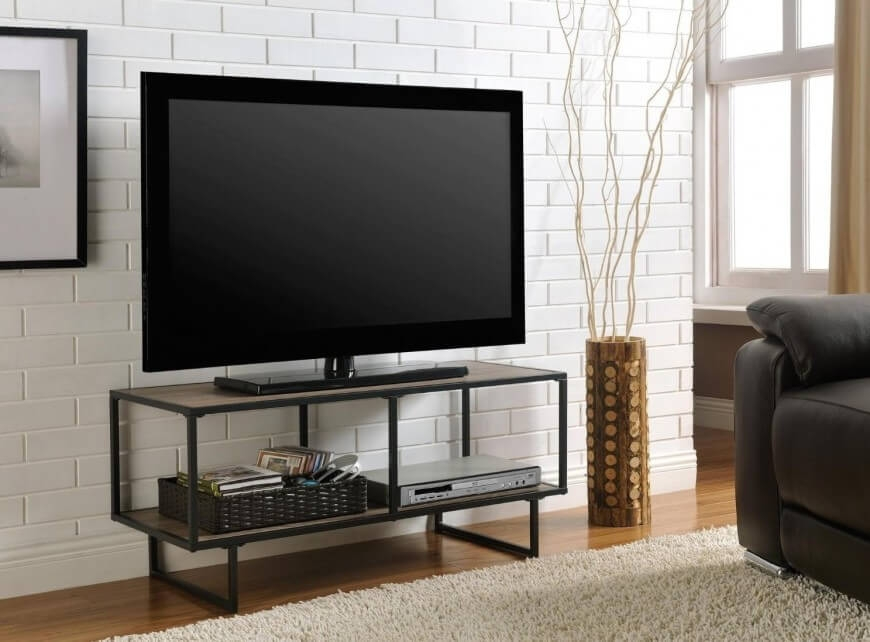 Amazing Wellknown Industrial Metal TV Cabinets Intended For Tv Stands Best Contemporary Tv Stand Dresser Combo Pinewood (Image 2 of 50)