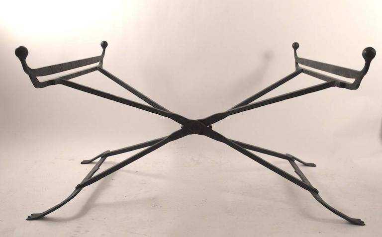 Amazing Wellknown Iron Glass Coffee Table For Wrought Iron Glass Top Coffee Table In The Gothic Style For Sale (Image 3 of 50)