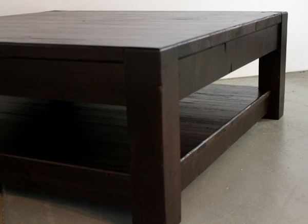 Amazing Wellknown Large Square Wood Coffee Tables Within Square Espresso Coffee Table (Image 7 of 50)