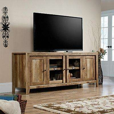 Amazing Wellknown Light Brown TV Stands Within Light Brown Wood Tv Stands Living Room Furniture The Home Depot (Image 3 of 50)